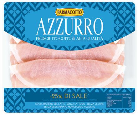 Prosciutto cotto a.q. azzurro Parmacotto 100 g