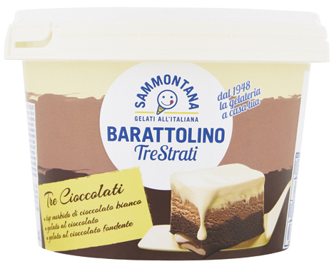 Barattolino 3 strati cioccolato/tiramisu' Sammontana 435 g