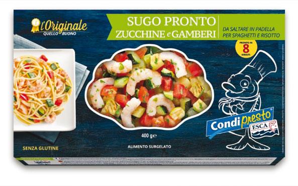 Sugo pronto zucchine-gamberetti Esca 400 g