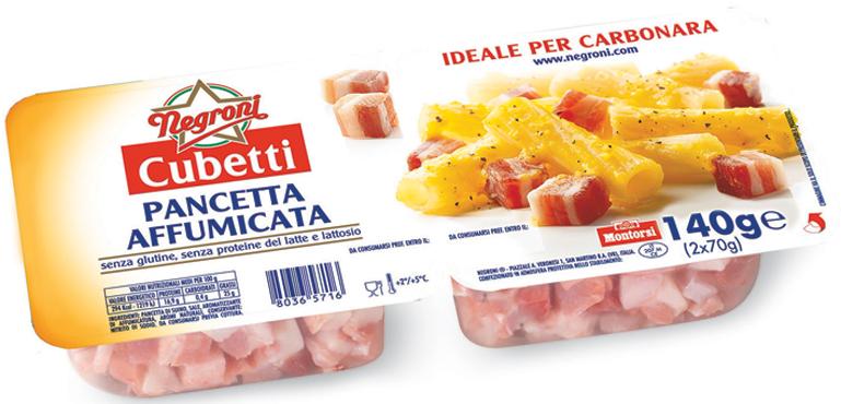 Cubetti pancetta Negroni vari tipi  2 x 70 g