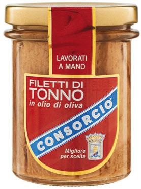 Filetto tonno Consorcio vari tipi 180/190/195 g