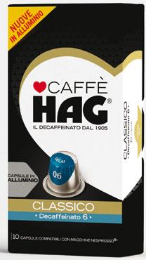 Capsule caffe' deca compatibili Nespresso Hag x10 52 g