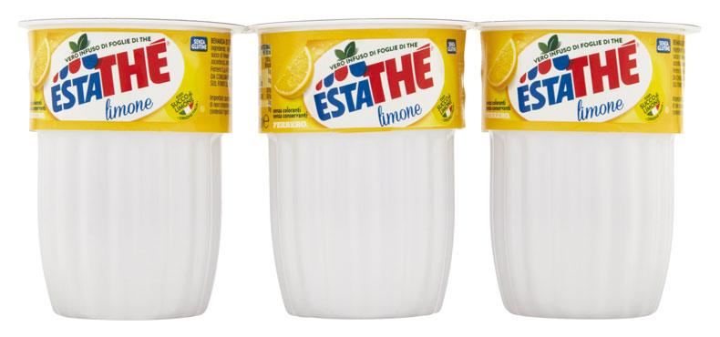 Estathe Ferrero bicchierino limone/pesca 3 x 200 ml