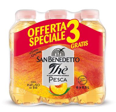 The San Benedetto limone/pesca 3+3 6 l