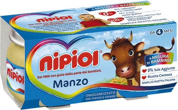 Omogeneizzati carne Nipiol var i tipi 2 x 80 g