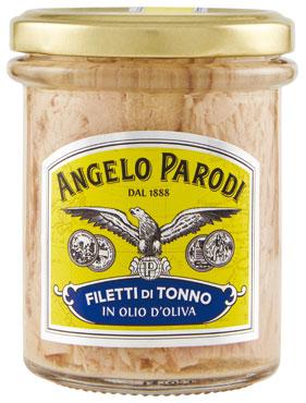 Tonno filetti Angelo Parodi o.o./naturale vaso 195 g