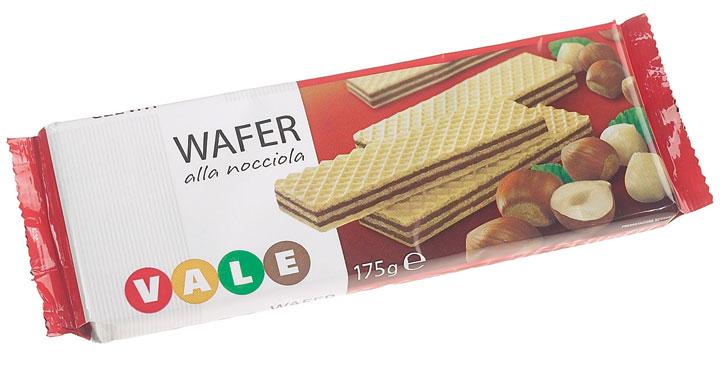 Wafer nocciola/cacao Vale 175 g