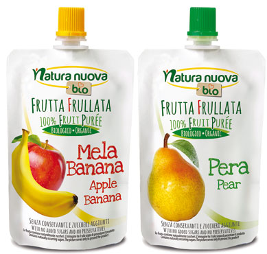 Frutta Frullata Natura Nuova bio vari gusti 100g, al pz