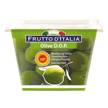 Olive dolci verdi Nocellara del Belice D.O.P  250 g  al pz