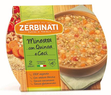 Minestra con Quinoa e Ceci Zerbinati 620 g, al pz
