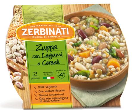 Zuppa con legumi e cereali Zerbinati 620 g al pz