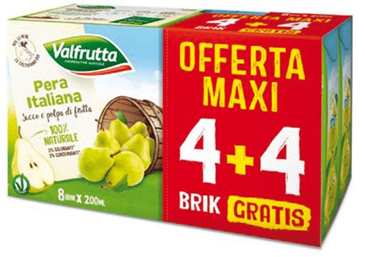 Nettari e succhi Valfrutta assortiti 20 cl 4+4 omaggio