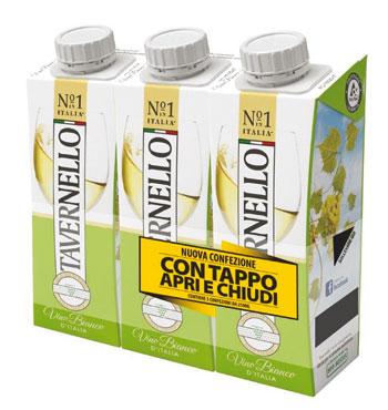 Vino Tavernello brik vari tipi 3 x 250 ml