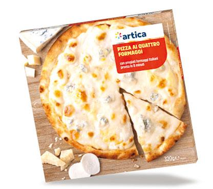 Pizza 4 formaggi Artica 320 g