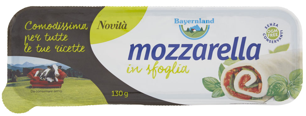 Mozzarella in sfoglia/julienne Bayernland 130/200 g