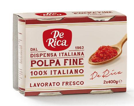 Polpa fine De Rica 2 x 400 g