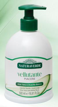 Sapone liquido Naturaverde Aloe-Muschio / Argan 500 ml