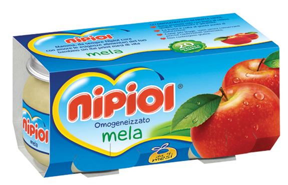Omogeneizzati frutta Nipiol vari tipi 2 x 80 g