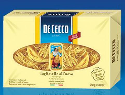 Pasta all'uovo De Cecco vari formati 250 g