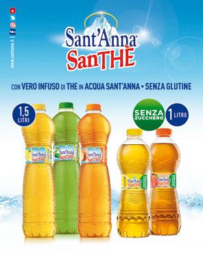 Santhe S.Anna senza zucchero limone/pesca 1 l