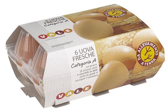 Uova allevate a terra categoria 'A' Vale confezione x 6