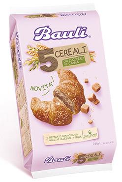 Croissant Bauli classico/5 cerereali/senza zucch/integraoli 200/240 g