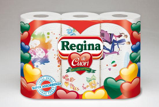 Asciugatutto Regina di Cuori x 3 rotoli
