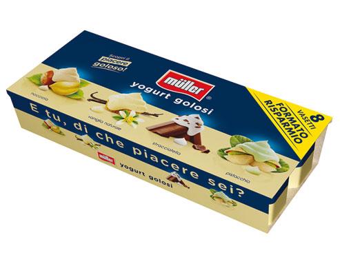 Yogurt omogeneo creme/frutta Muller 8x 125 g