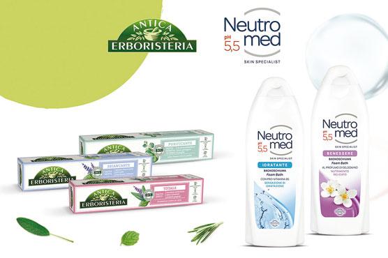 Bagnoschiuma Neutromed varie profumazioni 600 ml
