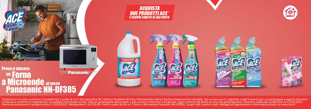 Ace candeggina piu' spray gentile 650 ml/classico/fresco profumo 700 ml