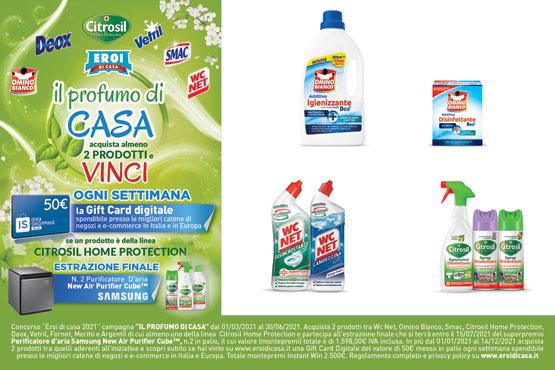 Additivo disinffettante Omino Bianco polvere 450 g/liquido 900 ml