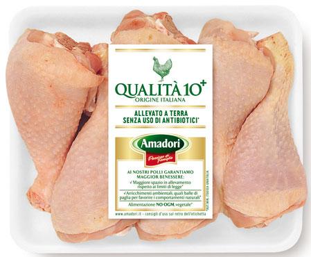 Fusi e sovracosce di pollo 10+ Amadori al kg