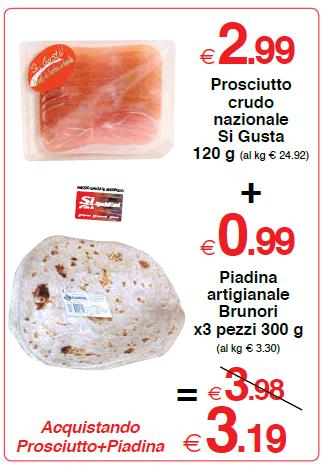 Prosciutto crudo nazionale si gusta 120 gr