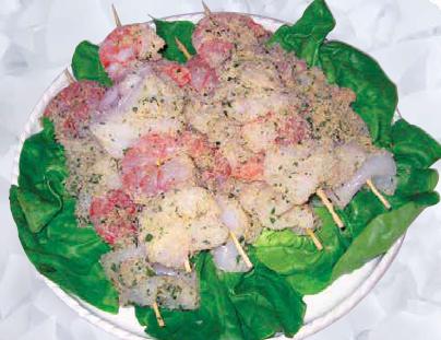 Spiedini di pesce decongelati gratinati da noi al kg