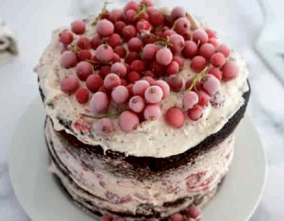 Nude cake con ribes