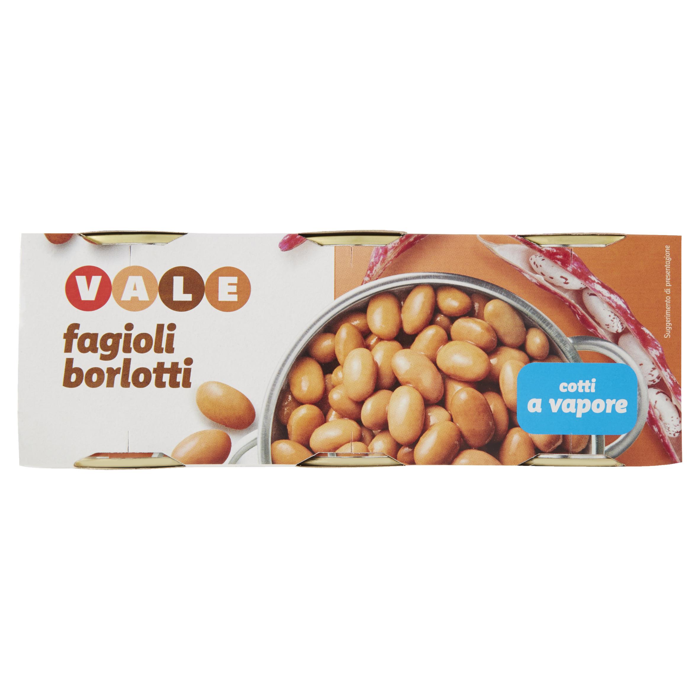 FAGIOLI BORLOTTI GR.150X3 VALE