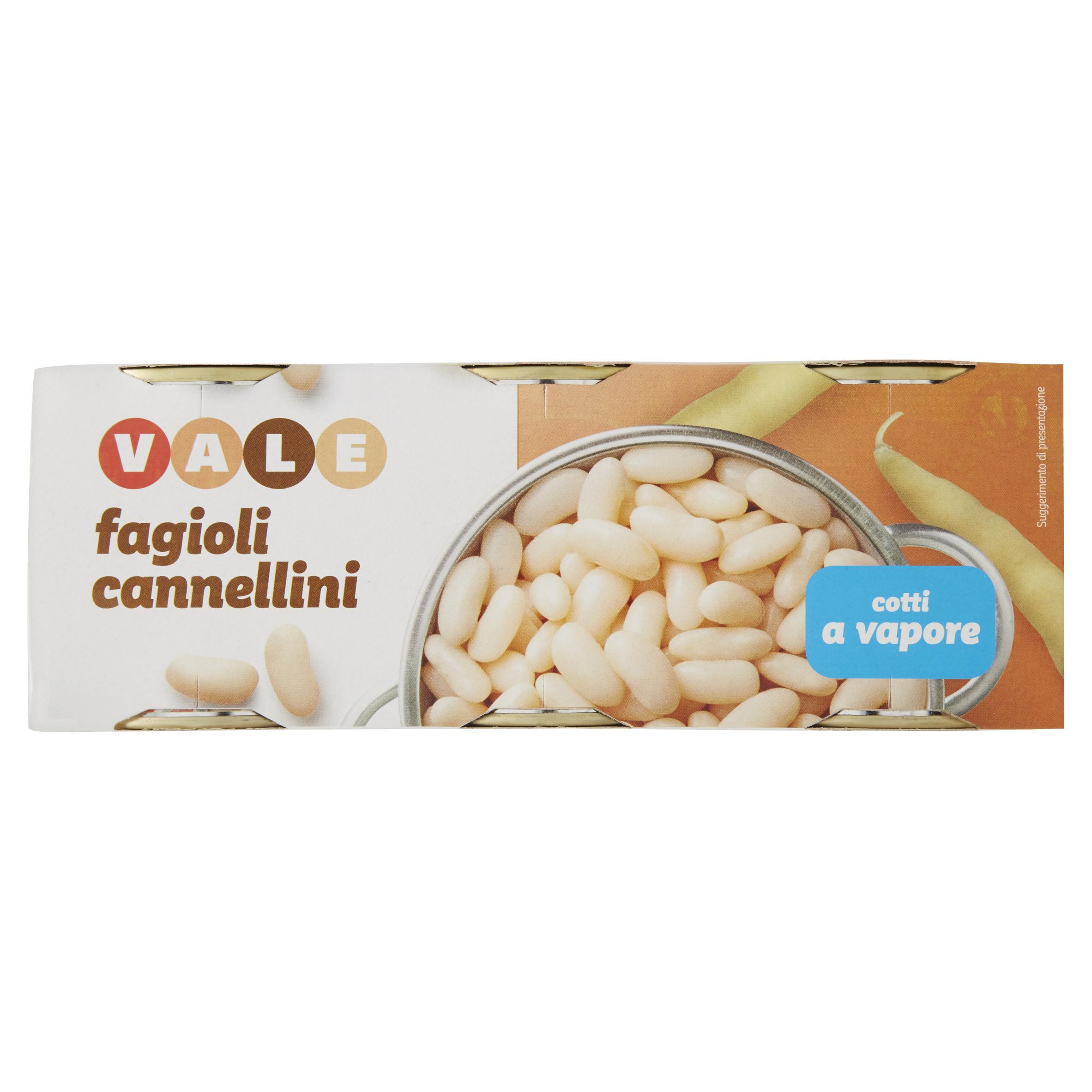 FAGIOLI CANNELLINI GR.150X3 VALE