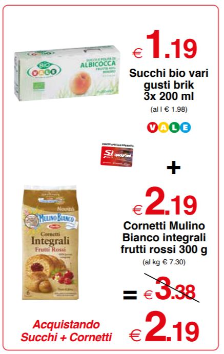 Cornetti Mulino Bianco integrali frutti rossi 300 g