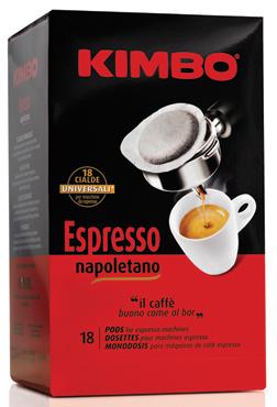 Cialde Kimbo vari tipi x 18 125 g