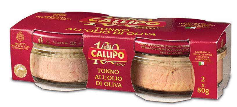 Tonno Callipo vaso vetro vari tipi 2 x 80/70 g