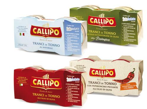 Tonno Callipo vaso vetro vari tipi 2x80/70 g