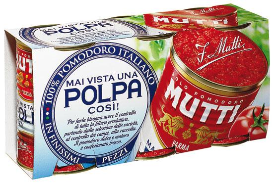 Polpa Mutti pomodoro/datterini 3 x 400/300 g