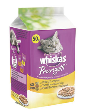 Whiskas pranzetti vari gusti 6 x 50 g