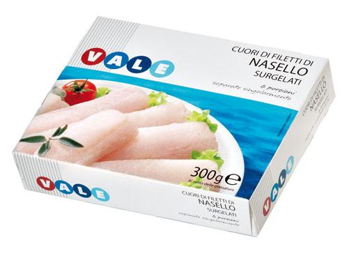 Cuori di filetto di nasello Vale 300 g