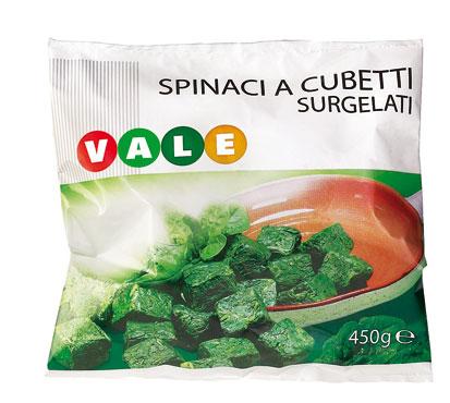 Spinaci foglia su foglia Vale 450 g