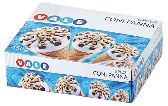 Cornetto Panna/Cioccolato/Amarena Vale 450 g