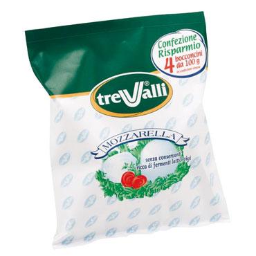 Mozzarella busta TreValli/Cign o 4 x 100 g