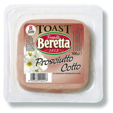 Prosciutto cotto fette per toast Beretta 100 g