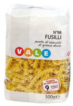 Pasta di semola Vale vari formati 500 g
