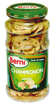 Funghi champignon trifolati Berni 314 g